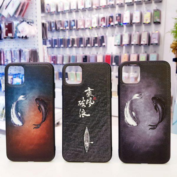 Ốp lưng điện thoại da sơn hình nổi 3D