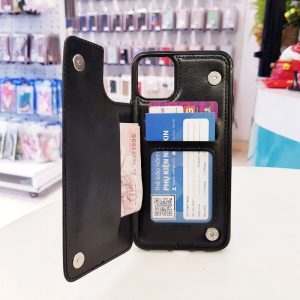 Ốp lưng điện thoại da ví sau lưng đen1