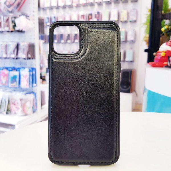 Ốp lưng điện thoại da ví sau lưng đen