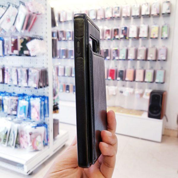 Ốp lưng điện thoại samsung bằng da ví sau lưng đen1