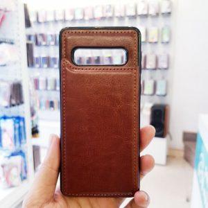 Ốp lưng điện thoại samsung bằng da ví sau lưng nâu2