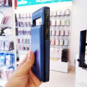 Ốp lưng điện thoại samsung bằng da ví sau lưng xanh than3