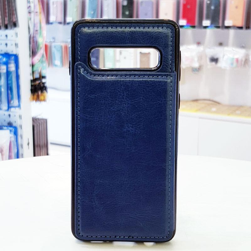 Ốp lưng Note 9 kiêm ví chất liệu da cao cấp xanh than
