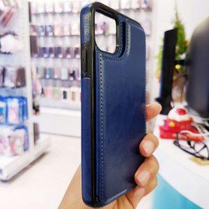 Ốp lưng điện thoại da ví sau lưng xanh than5