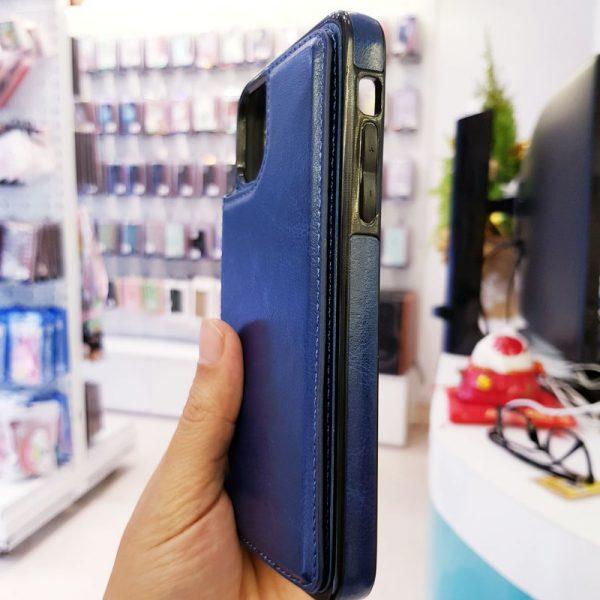 Ốp lưng điện thoại da ví sau lưng xanh than4