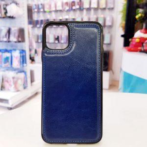 Ốp lưng điện thoại da ví sau lưng xanh than
