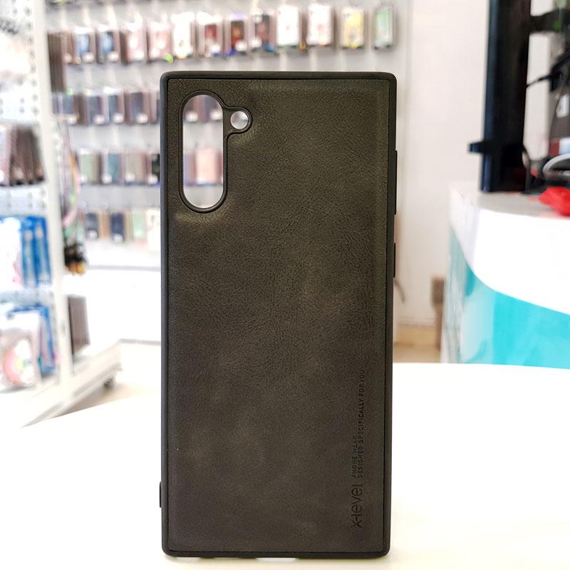 Ốp lưng Note 10 Plus bằng da chính hãng X-Level đen