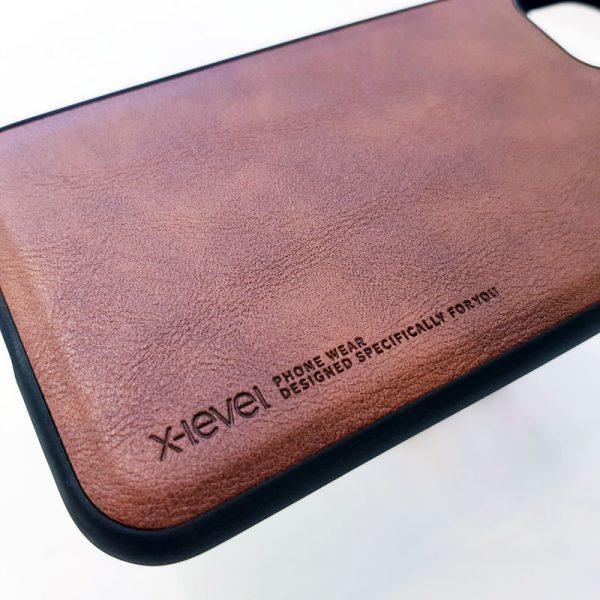 Ốp lưng da điện thoại X-level nâu2
