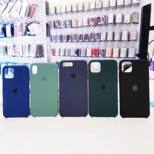 Ốp lưng điện thoại chống bẩn logo táo màu