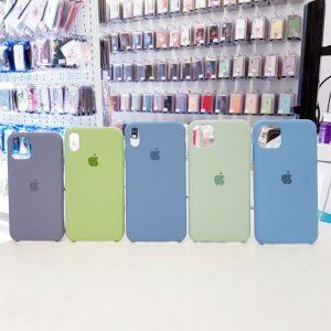 Ốp lưng điện thoại chống bẩn logo táo màu2