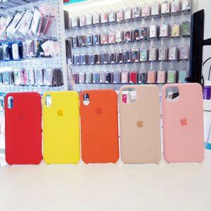 Ốp lưng điện thoại chống bẩn logo táo màu1