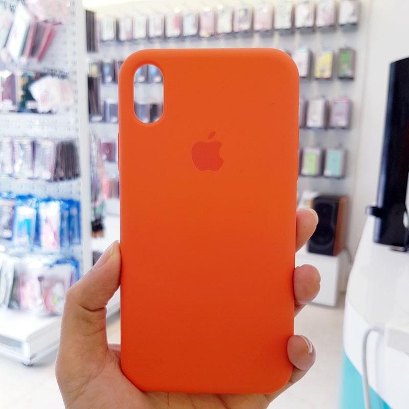 Ốp lưng điện thoại chống bẩn logo táo da cam1
