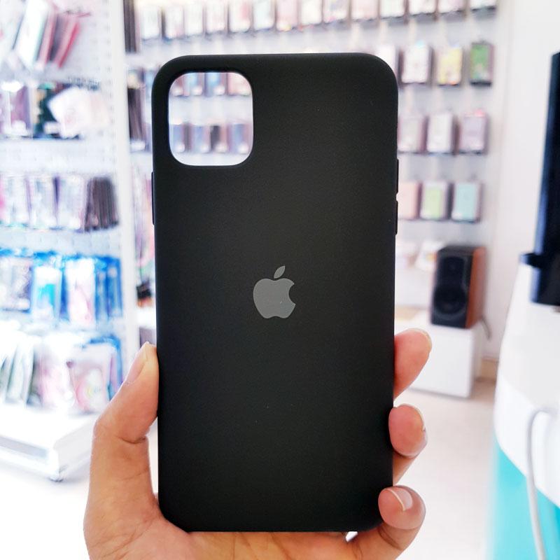 Ốp lưng điện thoại chống bẩn logo táo đen1