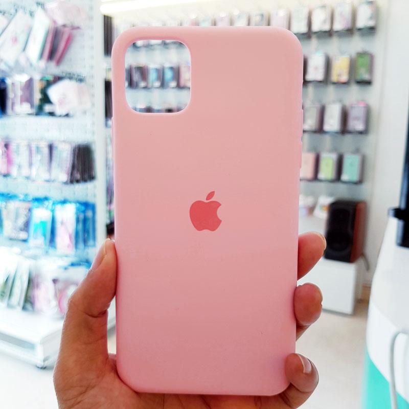 Ốp lưng điện thoại chống bẩn logo táo hồng1