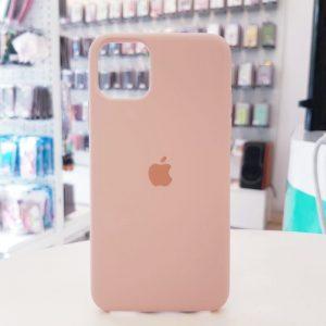 Ốp lưng điện thoại chống bẩn logo táo hồng nhạt