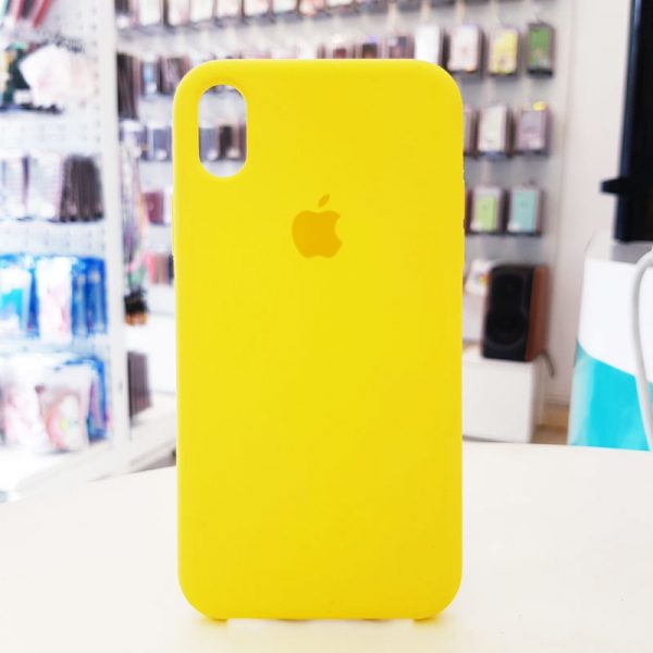 Ốp lưng điện thoại chống bẩn logo táo vàng