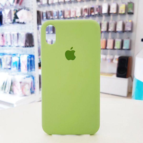 Ốp lưng điện thoại chống bẩn logo táo xanh cốm
