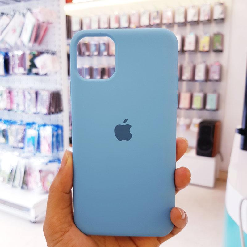 Ốp lưng điện thoại chống bẩn logo táo xanh dương1