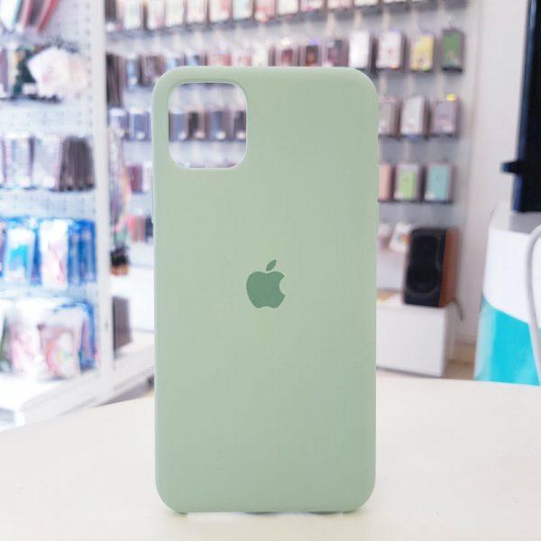 Ốp lưng điện thoại chống bẩn logo táo xanh bạc hà
