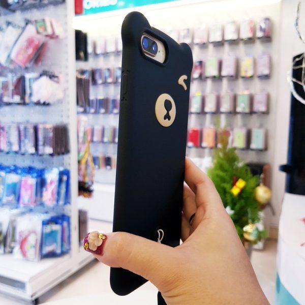 Ốp lưng điện thoại hình gấu đen1
