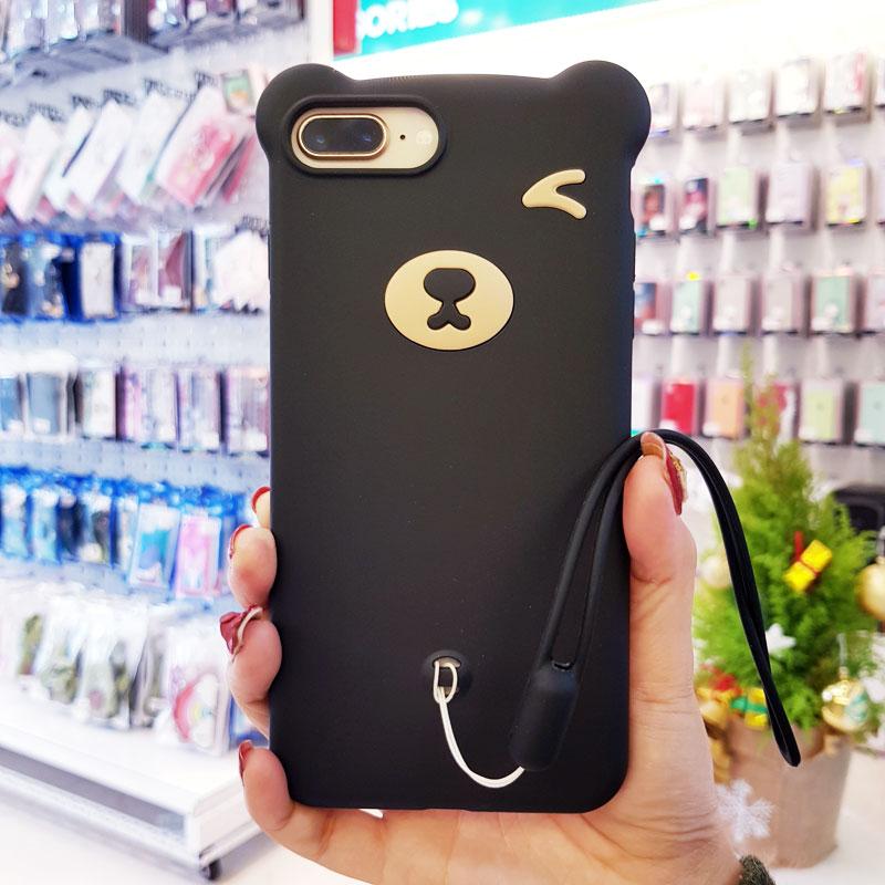 Ốp lưng điện thoại hình gấu đen