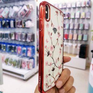 Ốp lưng điện thoại đính đá viền đỏ Sulada3