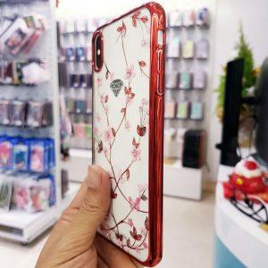 Ốp lưng điện thoại đính đá viền đỏ Sulada2