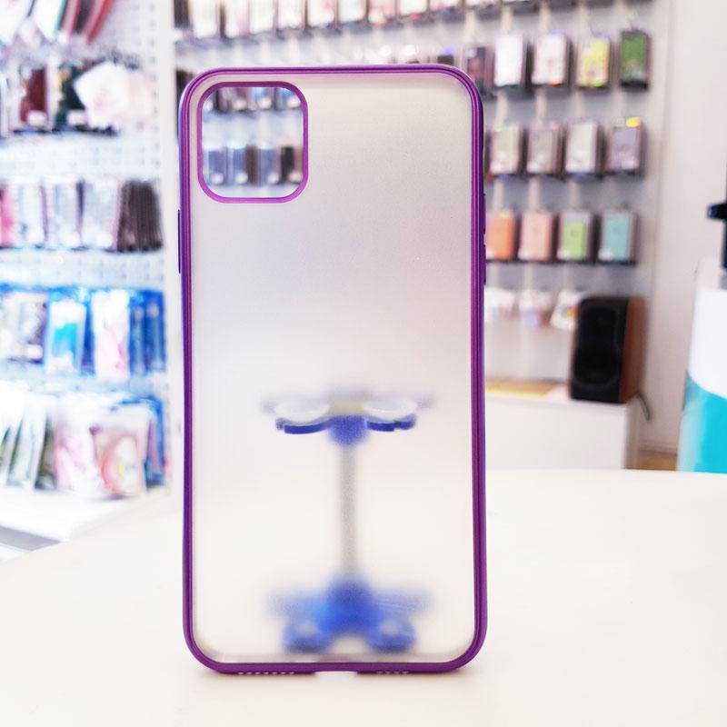 Ốp lưng iPhone X chính hãng joyroom lưng nhám viền tím