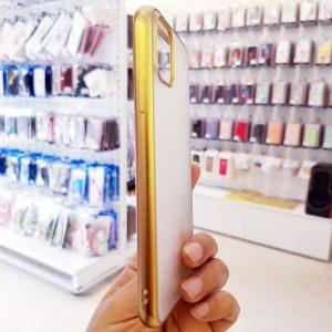 Ốp lưng điện thoại joyroom lưng nhám viền vàng1