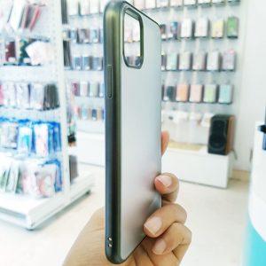 Ốp lưng điện thoại joyroom lưng nhám viền xanh rêu3