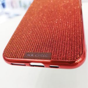 Ốp lưng điện thoại kim tuyến đỏ sang chảnh3