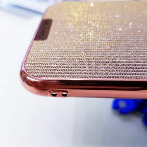 Ốp lưng điện thoại kim tuyến hồng sang chảnh
