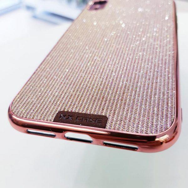 Ốp lưng điện thoại kim tuyến hồng sang chảnh3
