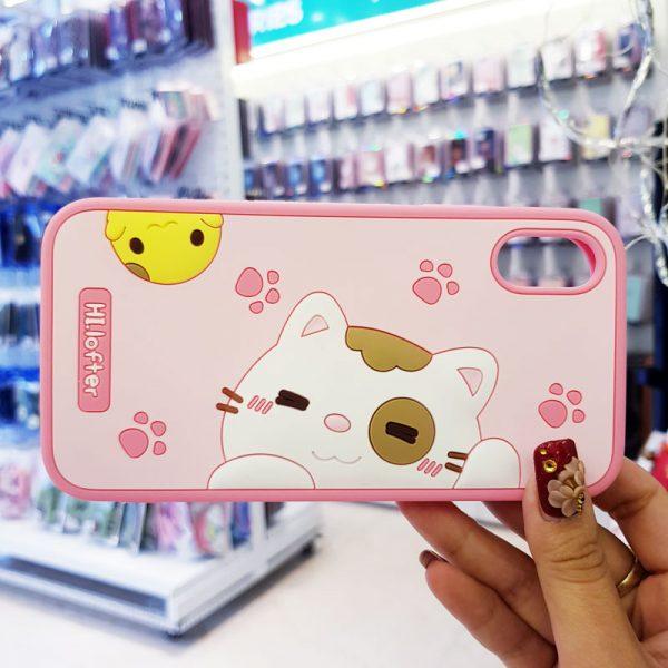 Ốp lưng điện thoại mèo Hi Lofter hồng3