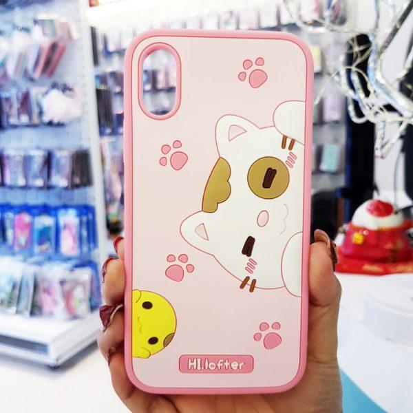 Ốp lưng điện thoại mèo Hi Lofter hồng2