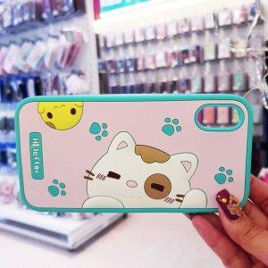 Ốp lưng điện thoại mèo Hi Lofter xanh3