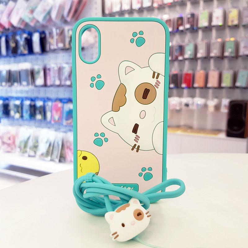 Ốp iPhone Xs Max cute Hi Lofter xanh