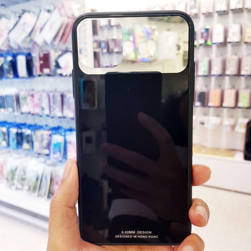 Ốp lưng điện thoại lưng kính gương đen3