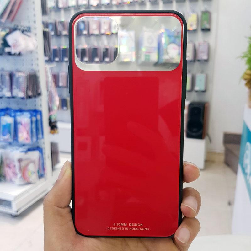 Ốp lưng điện thoại lưng kính gương đỏ