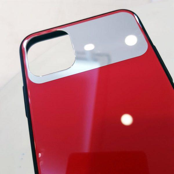 Ốp lưng điện thoại lưng kính gương đỏ3