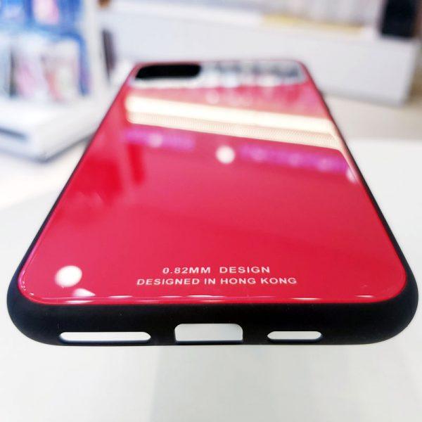 Ốp lưng điện thoại lưng kính gương đỏ2