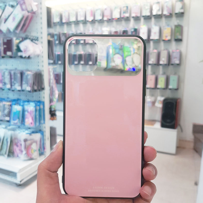 Ốp lưng điện thoại lưng kính gương hồng