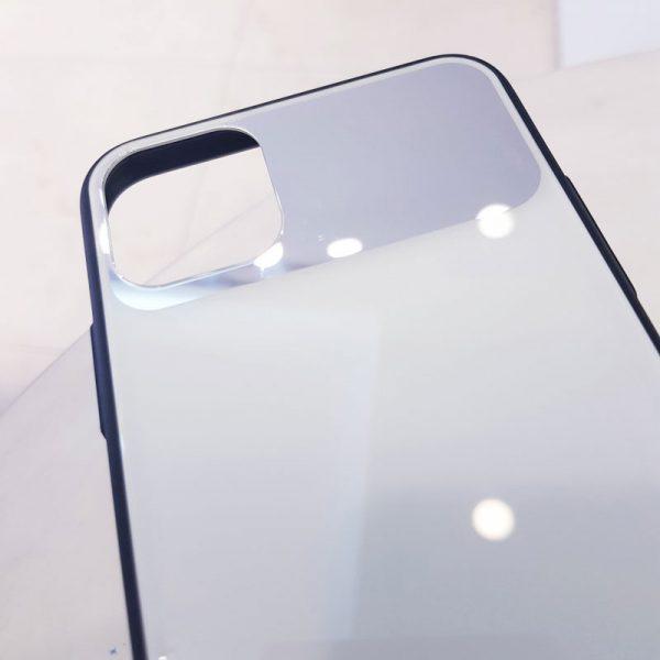 Ốp lưng điện thoại lưng kính gương trắng3