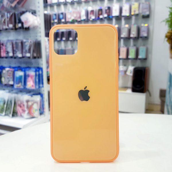 Ốp lưng điện thoại lưng kính logo táo da cam
