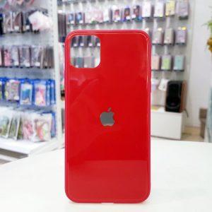 Ốp lưng điện thoại lưng kính logo táo đỏ