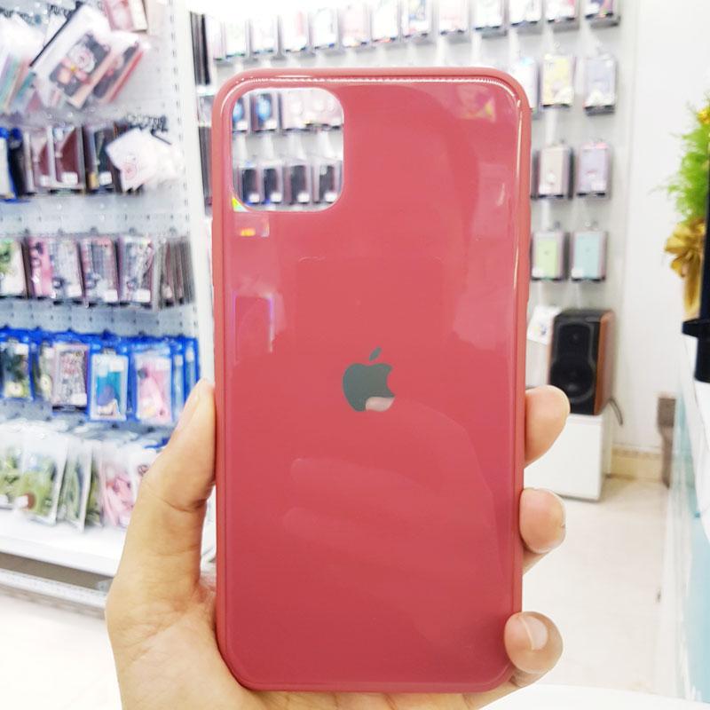Ốp điện thoại iPhone X chống sốc hồng đậm1