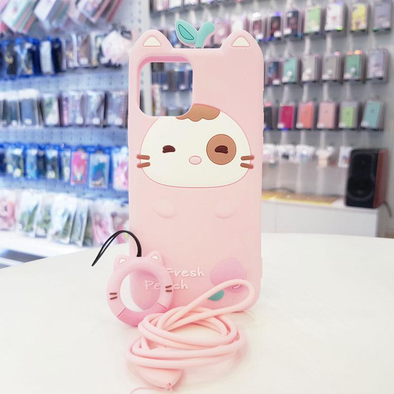 Óp lưng điện thoại Fresh Peach dễ thương hồng