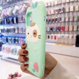 Óp lưng điện thoại Fresh Peach dễ thương xanh1