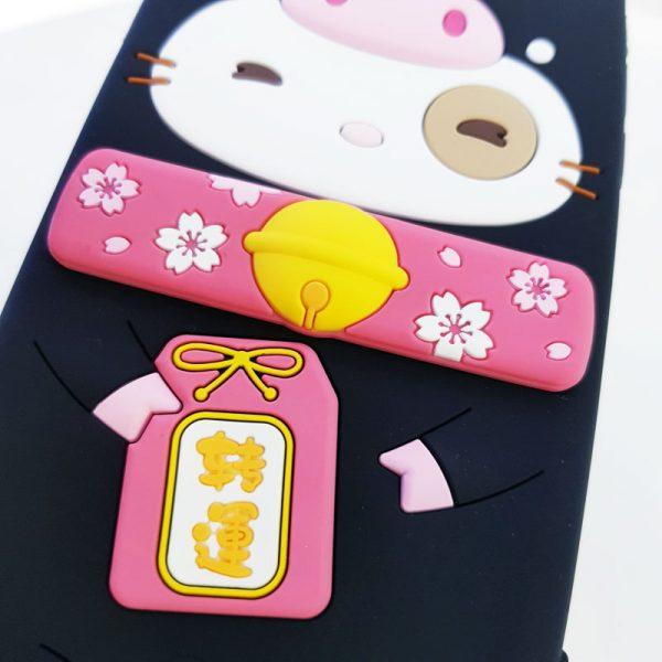 Ốp lưng điện thoại mèo thần tài Lofter đen4