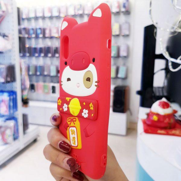 Ốp lưng điện thoại mèo thần tài Lofter đỏ4